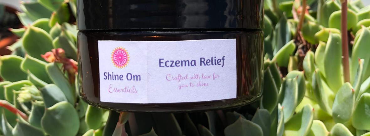 Shine Om Eczema Relief gel made with natural ingredients