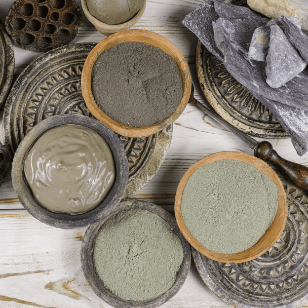 Shine Om handcrafts organic Green Clay Masks to add to your self-care routine