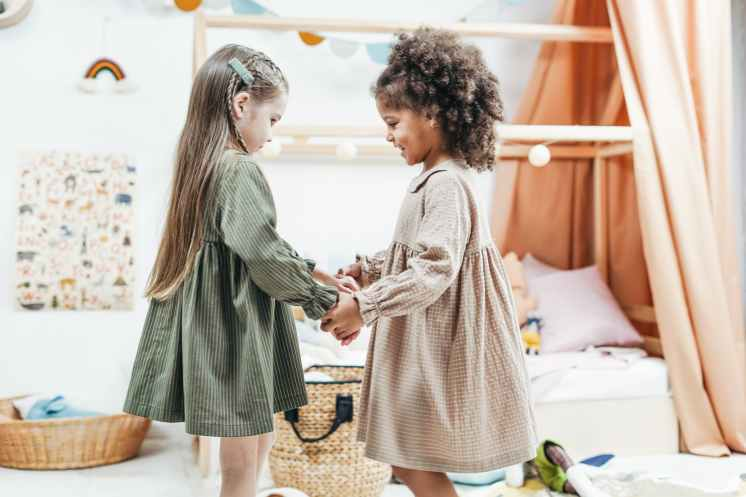Online kids yoga is an opportunity for siblings to mindfully connect.