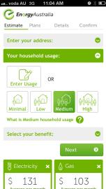 EnergyAustralia's Mobile Quote Tool
