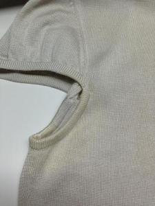シルクニット脇の変色1
