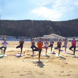 Beach Yoga Newquay Cornwall