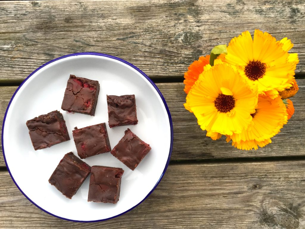 Raspberry Raw Brownies Recipe