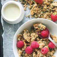 Crunchy Coconut Granola Recipe (Nut Free, Vegan, Gluten Free)