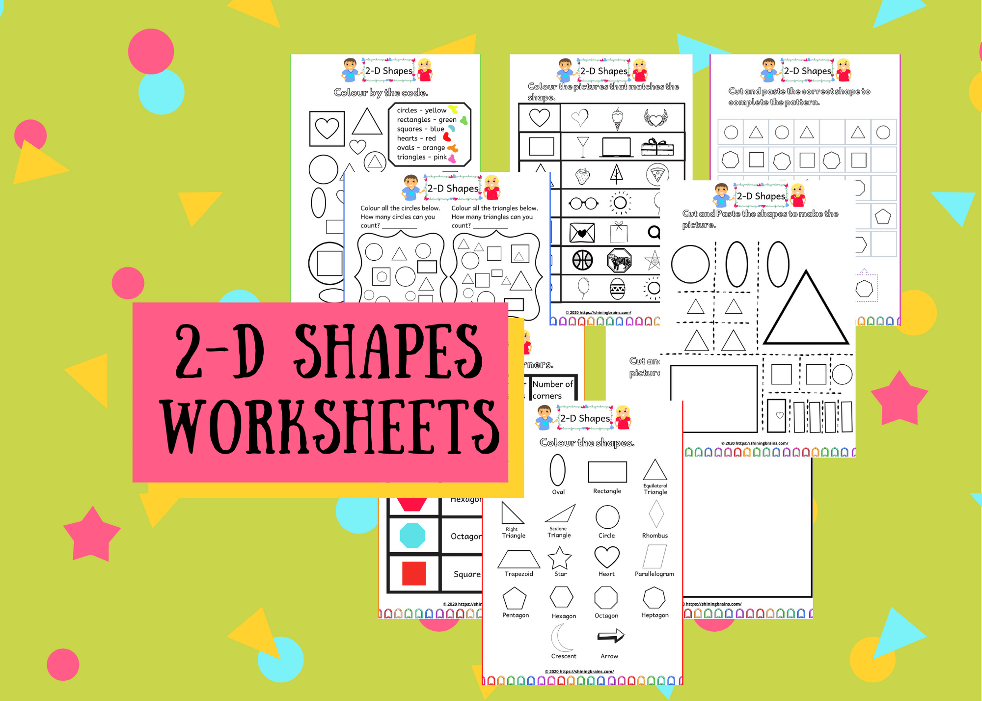 2d Shapes Worksheets Free Printables