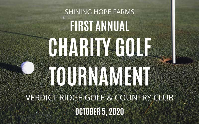 Shining Hope Farms Charity Golf Tournament Banner