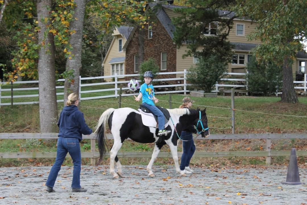 Child on horse.
