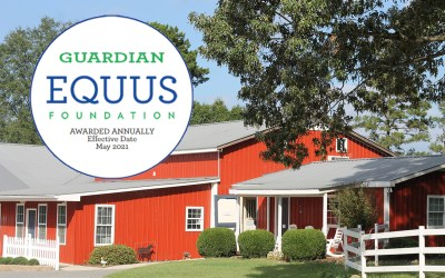 Shining Hope Farms Designated EQUUS Foundation 2021 Guardian.