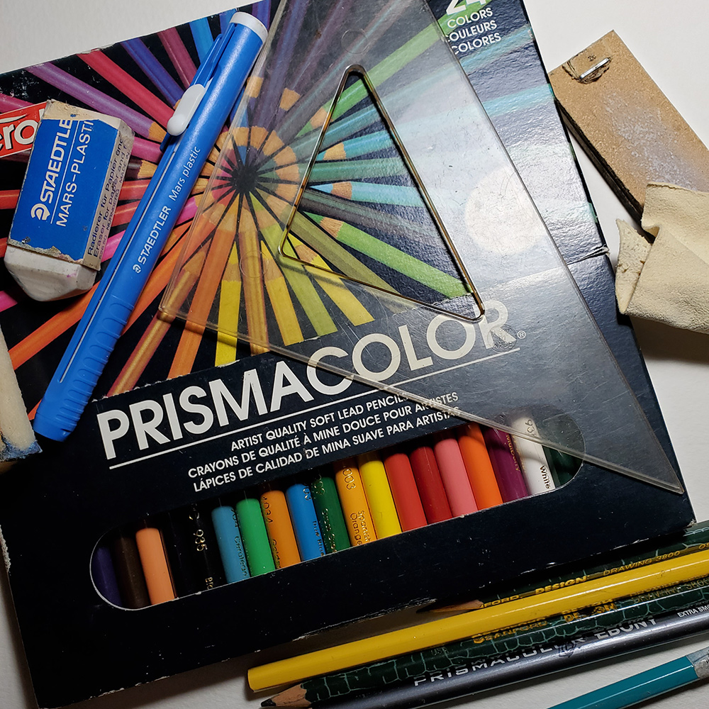 Art supplies from College