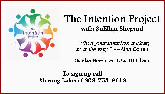 The Intention Project - Nov 10