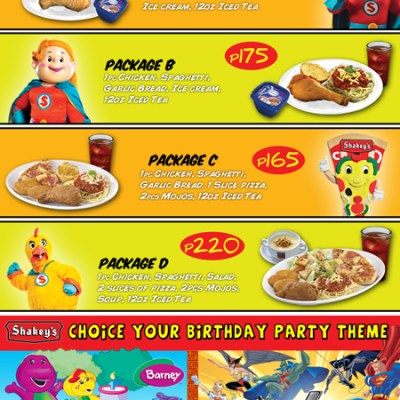 Top Fast Food Party Packages in the Metro for Your Child's Birthday!