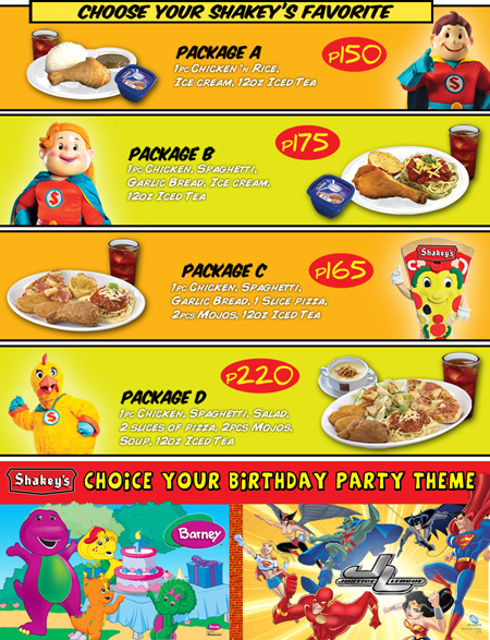 Fast Food Party Packages
