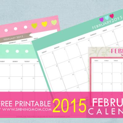 Designs You'll Love: Free Printable February 2015 Calendar