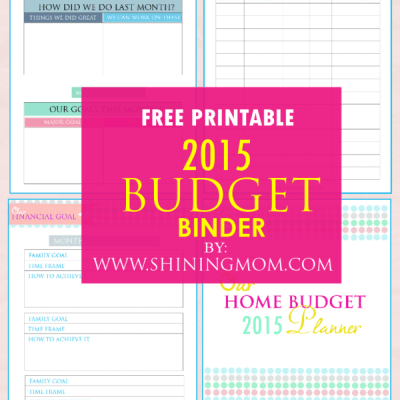 Printable: Family Budget Binder