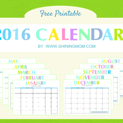 Free Printable: Your Lovely 2016 Calendars!