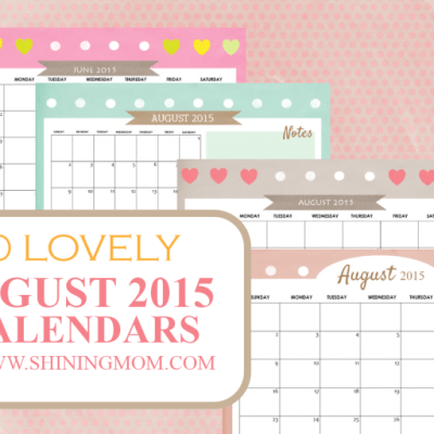 10 Lovely Calendars for August 2015