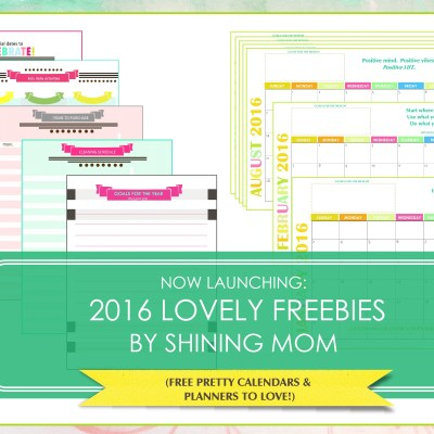 Now Launching: 2016 Lovely Freebies by Shining Mom