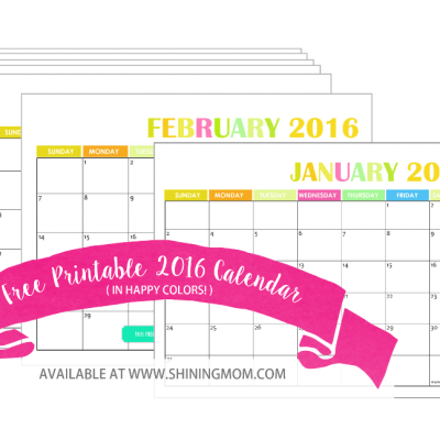 Your 2016 Calendar (Free to Print!)