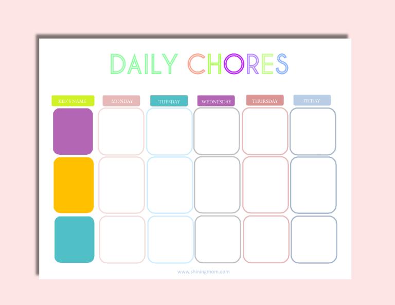 chore charts online