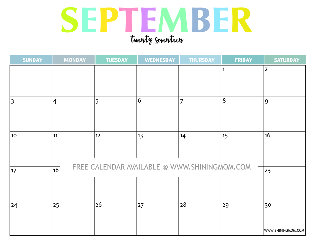 October Calendar 2017 Tumblr