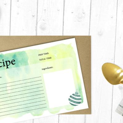 Christmas Recipe Cards to Print