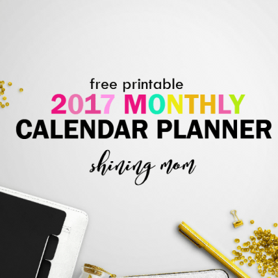 Free Printable Calendars 2017 with Notes!