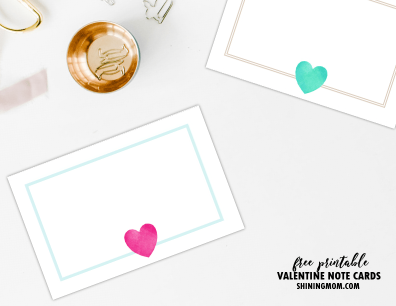 10 Free Printable Love Notes for Valentines Day Pink and Pretty – Valentine Note Cards