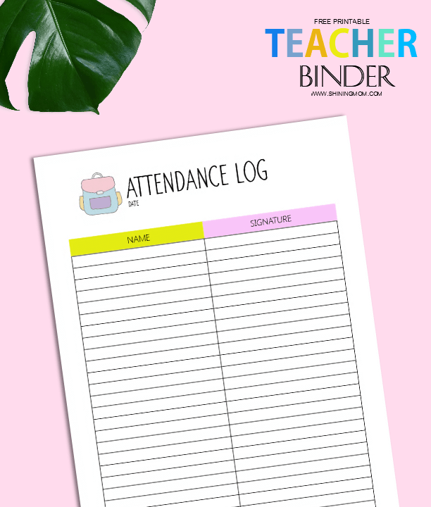 Tactueux image with teacher binder printables