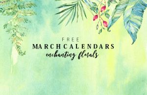 Free March Calendars in Pretty Florals