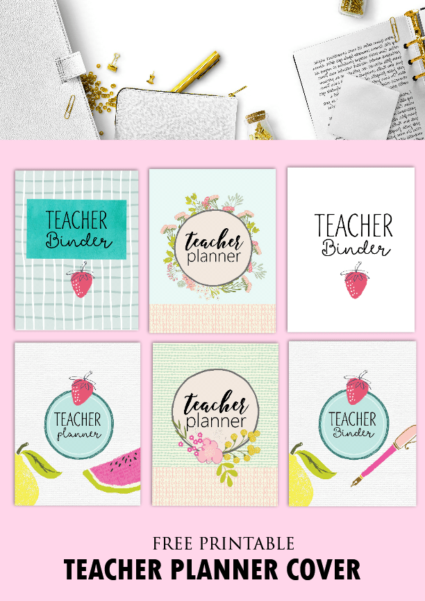 Playful image for free printable teacher planner