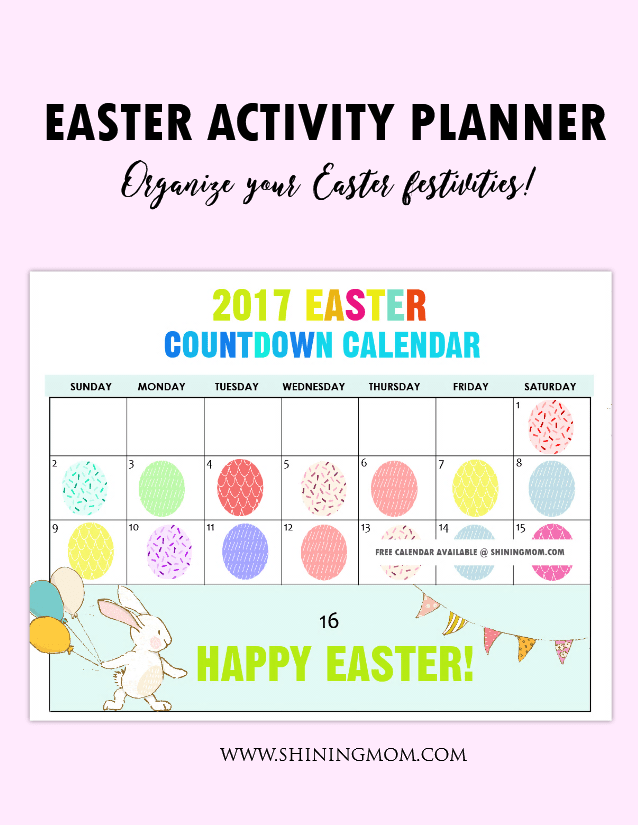 Calendar Easter : Free printable fun easter countdown calendar