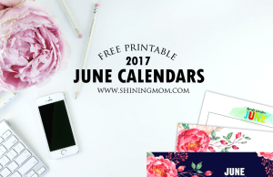 Free June 2017 Calendar: 12 Gorgeous Designs!
