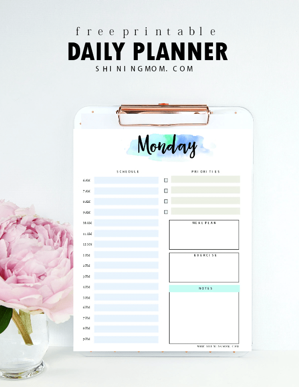 free downloadable daily planner