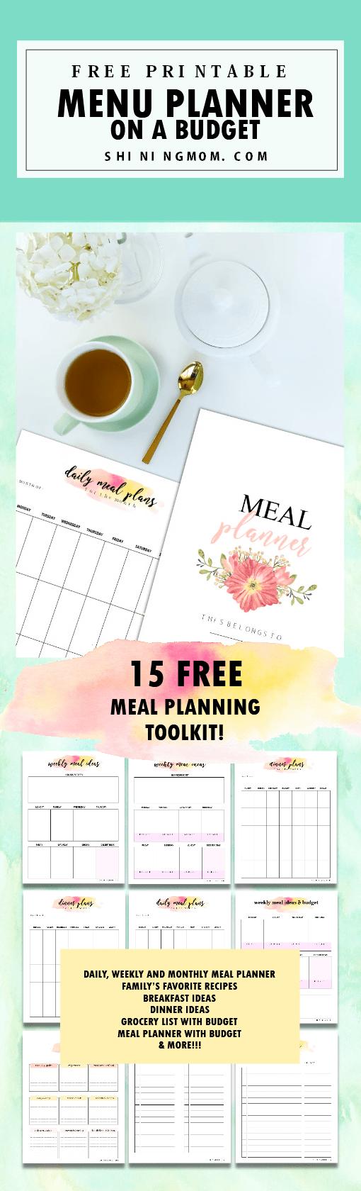 menu planner free