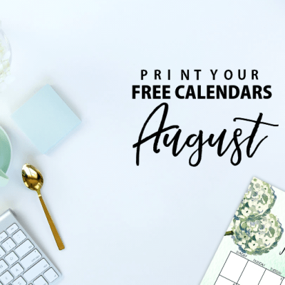 August 2017 Calendar Set: All Free to Print!