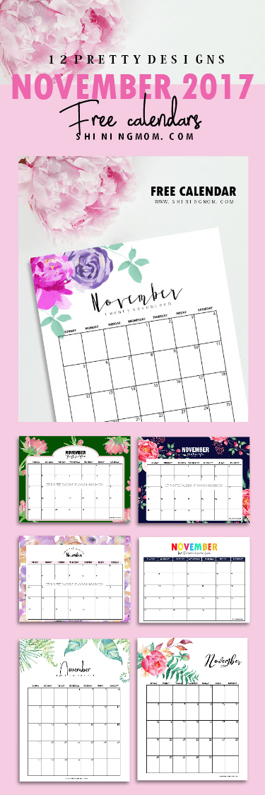 November Calendar Design : Free printable november calendar beautiful designs
