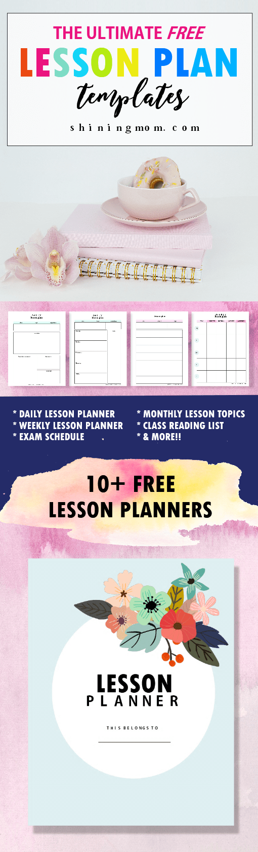 FREE Amazing Lesson Plan Template Printables - Monthly lesson plan template