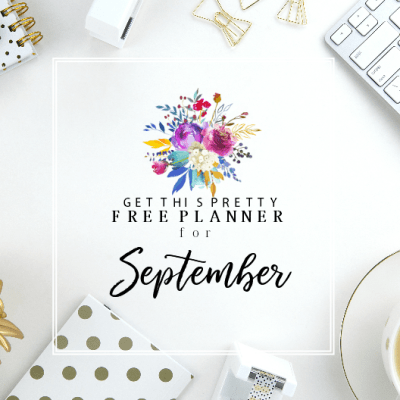 Plan an Awesome September with this Darling FREE Planner!