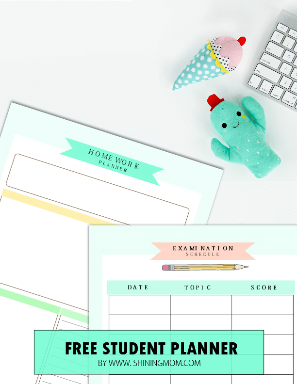 printable planners for students