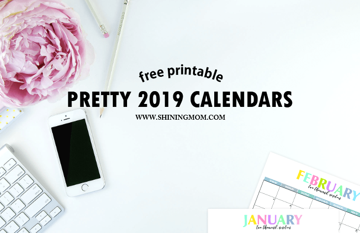 Free Printable 2019 Calendar Beautiful And Colorful