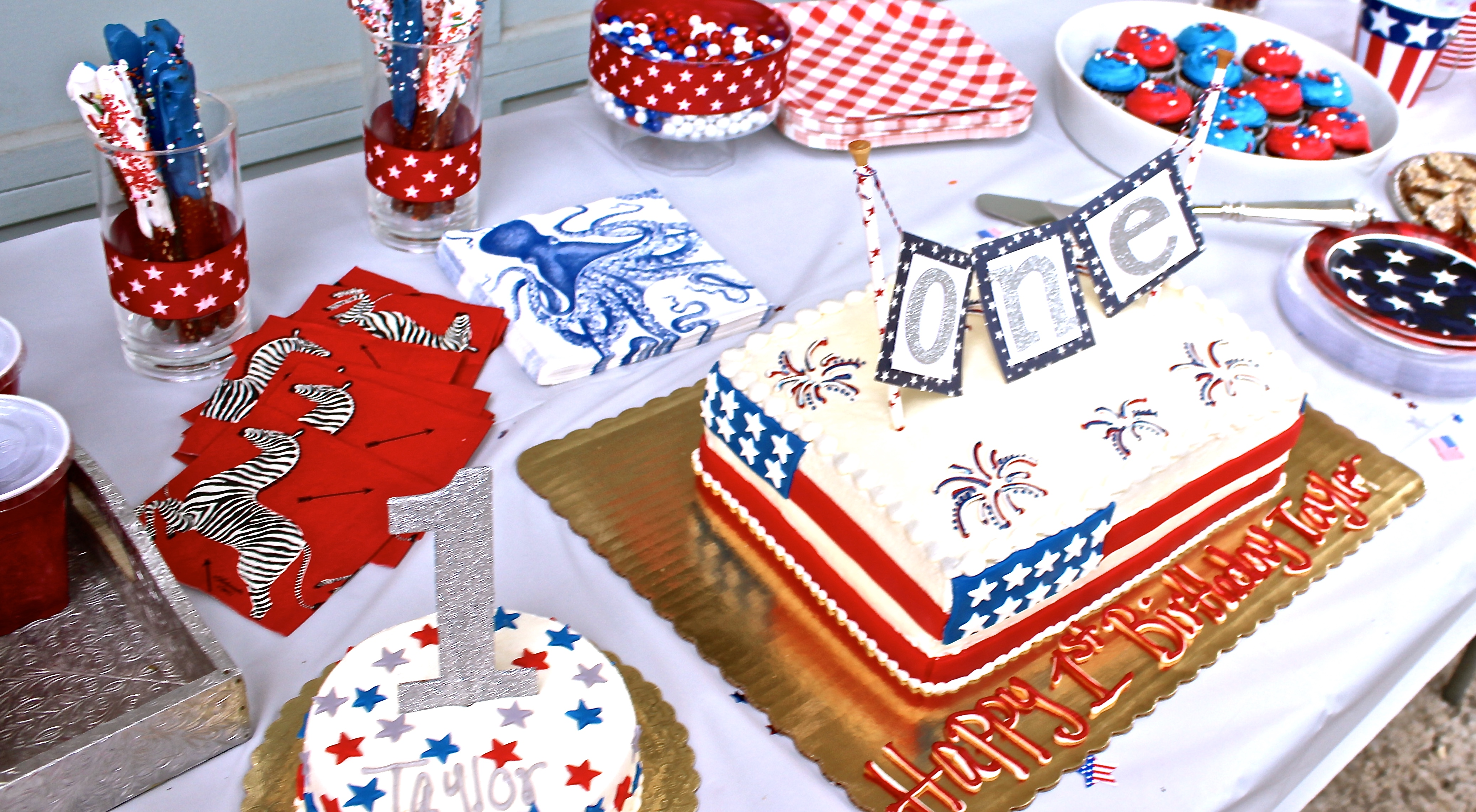 A Red White And Blue First Birthday Party