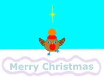 Christmas Card-Brownies Robin