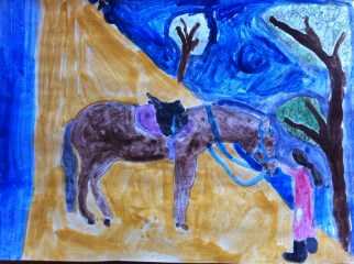 Painting Maria and Horse 2