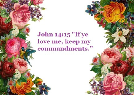 "John 14:15 ""If ye love me, keep my commandments."""