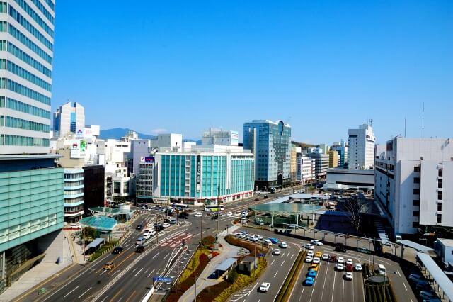 静岡市の駅前の写真