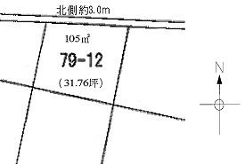 土地490万円 犬山市 藪畔