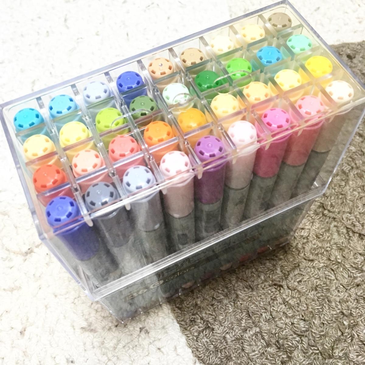 コピックチャオ36色Aセット 購入した実物 商品写真