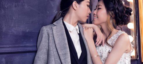 【自助婚紗攝影】雙人攝影棚拍法式婚紗寫真