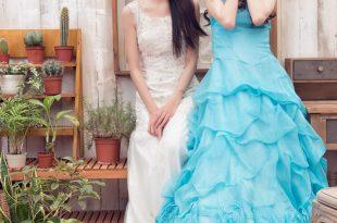 【閨蜜婚紗攝影】雙人攝影棚拍婚紗田園居家歐風寫真