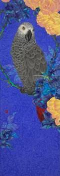 「季春」 51.4×18.2㎝ 白麻紙、水干、岩絵具